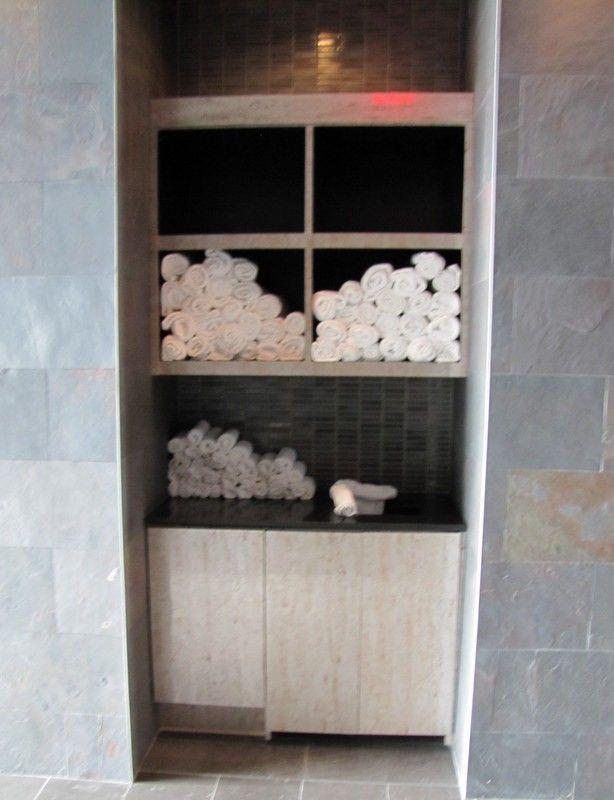 Hand Made Towel Drop Linen Closet By Santini Custom