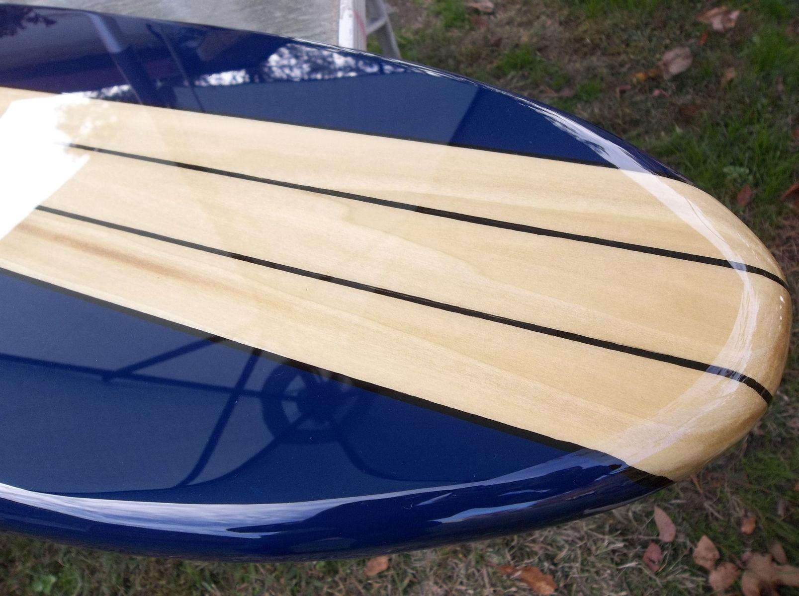 Custom six foot surfboard wall hanging poplar with navy blue by custom made six foot surfboard wall hanging poplar with navy blue amipublicfo Images