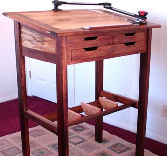 Custom Made Stand-Up Desk And Drafting Table