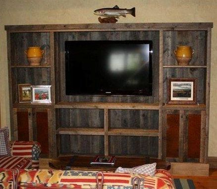 Custom Made Reclaimed Lumber Entertainment Center