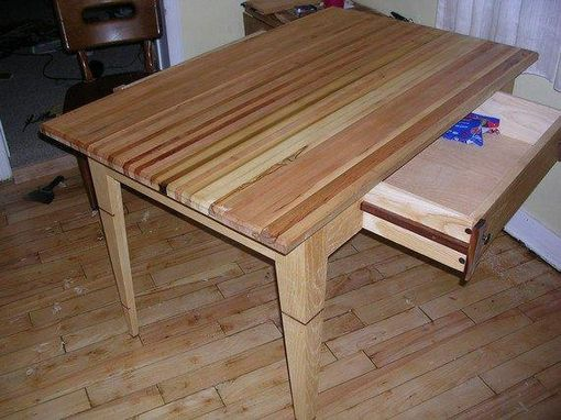 Custom Made Butcher Block Top Kitchen Table