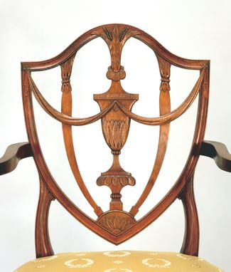 Custom Made Shield Back Armchair