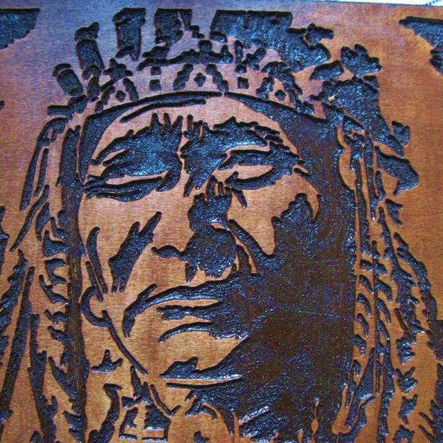 Custom Made Native American Indian Chief Handmade Wood Carving Wall ...