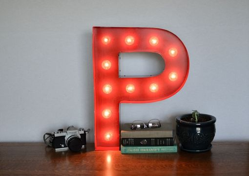 Custom Made Vintage Inspired Marquee Light- Letter P