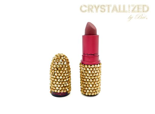 Custom Made Crystallized Mac Lipstick Bling Makeup Made With Swarovski Crystals Bedazzled Cosmetics