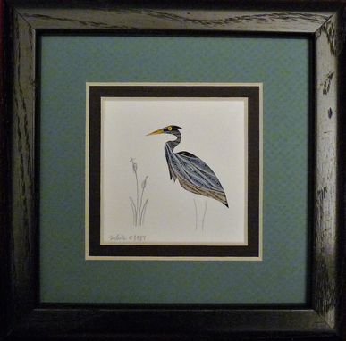 Custom Made Quilled Heron Little One Wall Art