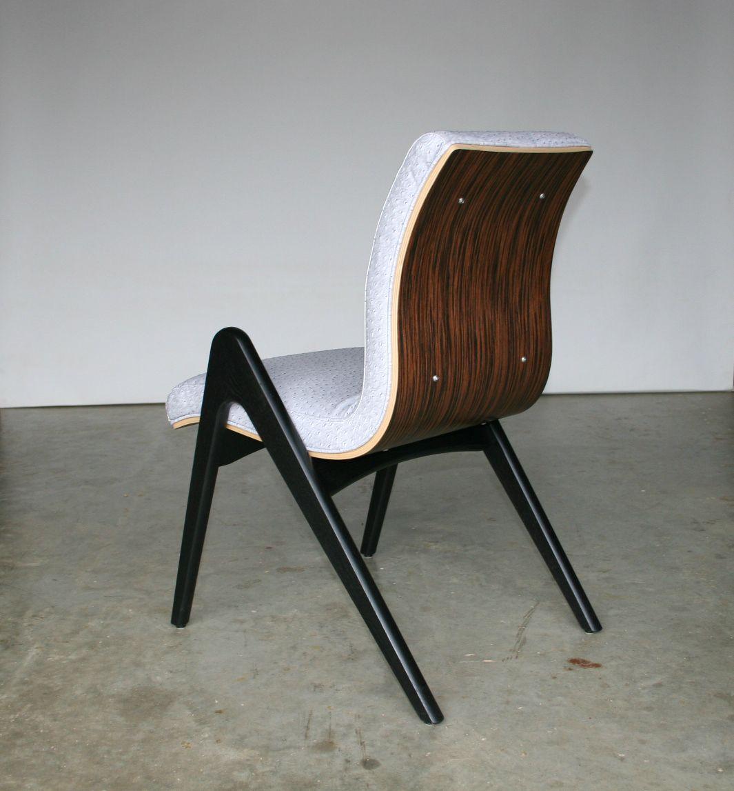 Fine Buy A Hand Made Mid Century Modern Dining Chair Black And Creativecarmelina Interior Chair Design Creativecarmelinacom