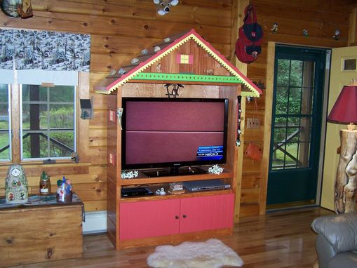 Custom Made Swiss Chalet Tv Cabinet