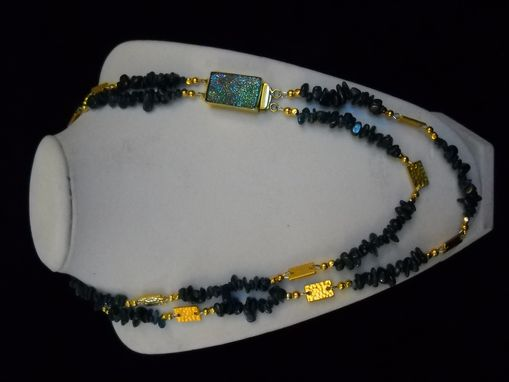 Custom Made Aquamarine And Gold Double Strand Necklace