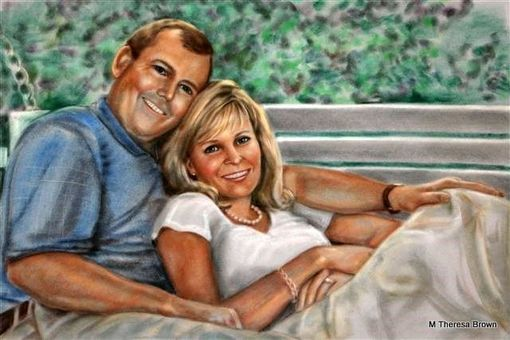 Custom Made Large Pastel Portraits Full Body