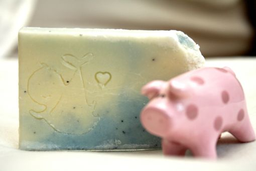 Custom Made Baby In A Kerchief Soap Stamp