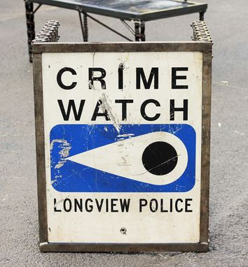 Custom Made Industrial Metal Table Crime Watch By Raymond Guest