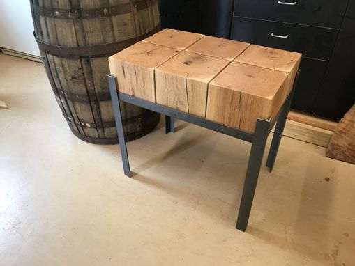 Custom Made Steel And Beam- Coffee And End Tables