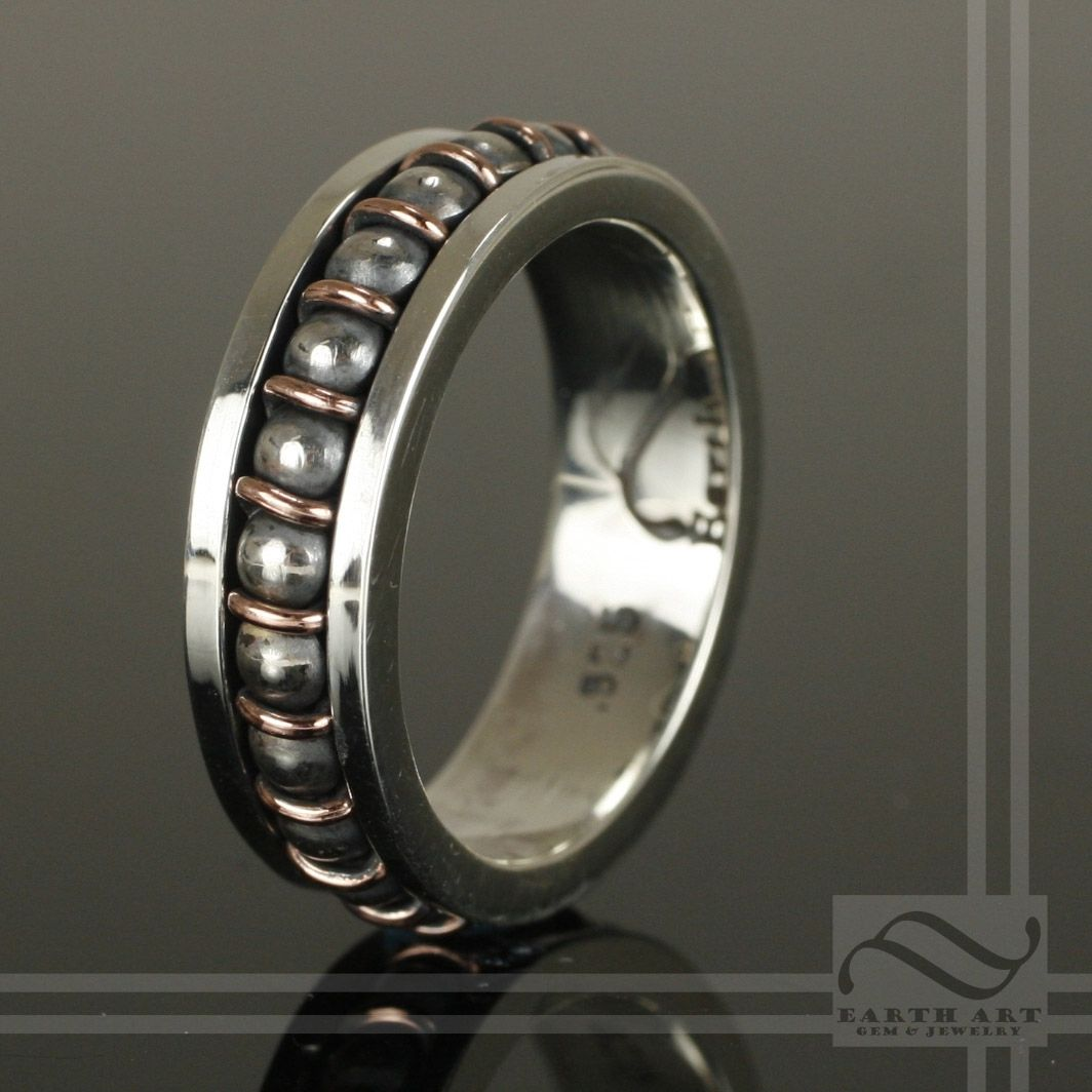 custom made steampunk ball bearing ring - Steampunk Wedding Rings