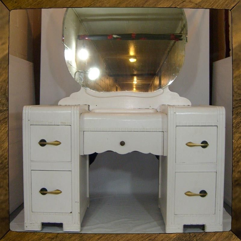 custom makeup vanity sets. Art Deco Vanity  Dressing Table Small Desk As Is Or Ready To Refinish Custom Bedroom vanity ideas vanities CustomMade com