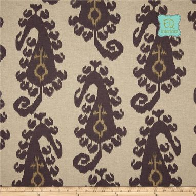"Custom Made Custom Designer Curtain Panels Lacefield Taj Ikat Smoke Gray 90""L X 50""W"