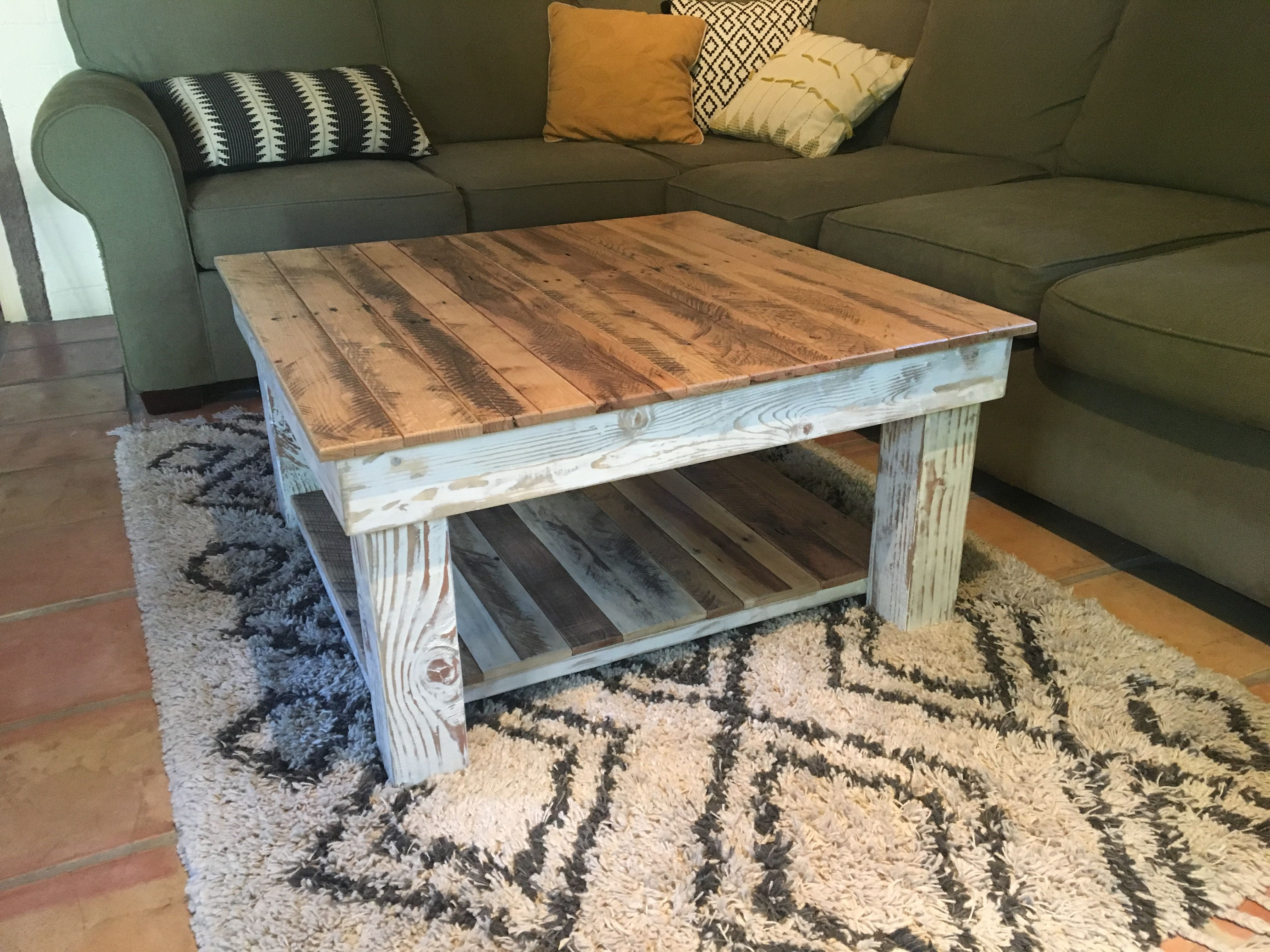 Handmade Reclaimed Wood Rustic Coffee Table By A M Abbott