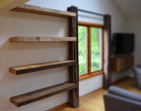 hand made rustic floating shelves by abodeacious. Black Bedroom Furniture Sets. Home Design Ideas