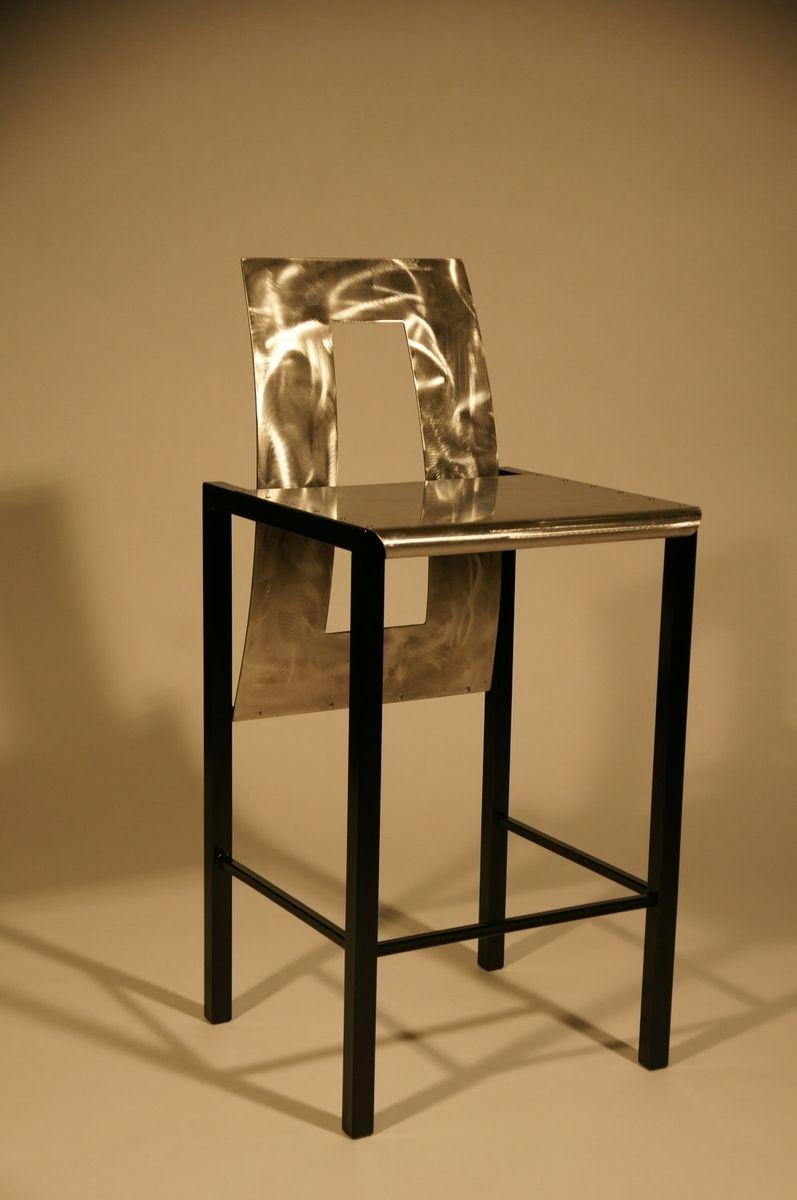 Buy a Hand Crafted Custom Steel High Back Chair/Bar Stool, made to ...