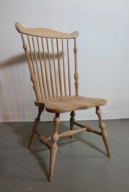 Custom Made Dining Chair Finished In Golden Brown Cherry Color
