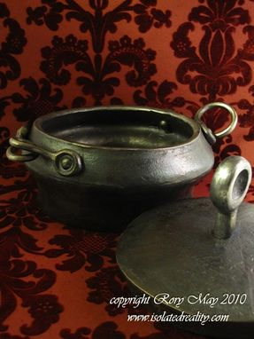 Custom Made Forged Pot With Lid