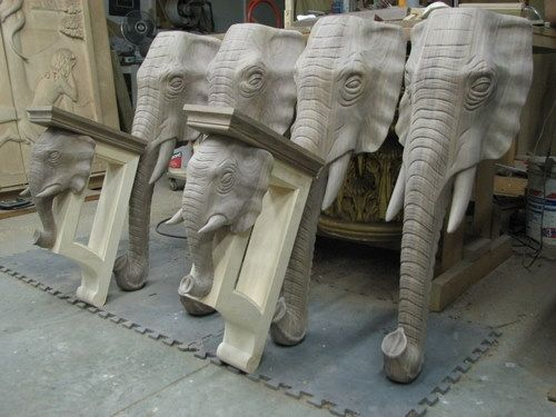 Custom Made Elephant Head Island Legs