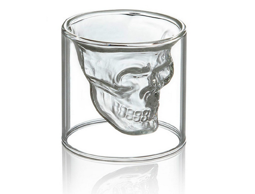 Custom Made 25ml Skull Shot Glass