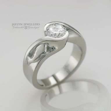 Custom Made Marine Engagement Ring