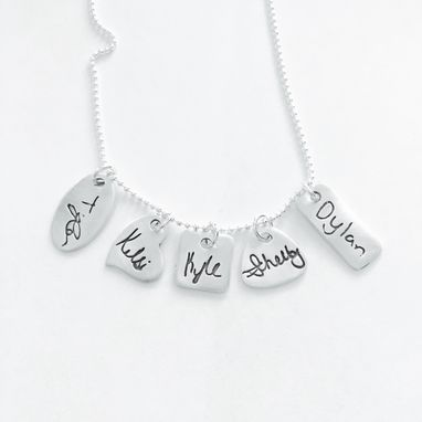 Custom Made Signature Tag Necklace Small