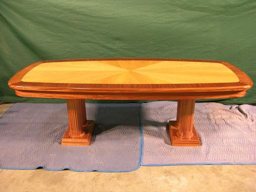 Custom Made Sapele And Satinwood Conference Table