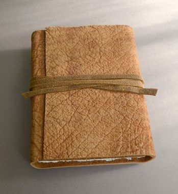 Custom Made Leather Travel Journal Bound Distressed Hippo Hide Adventure Africa Safari Diary (445)