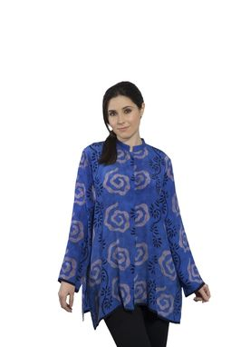 Custom Made Hand Printed Silk Long Shirts