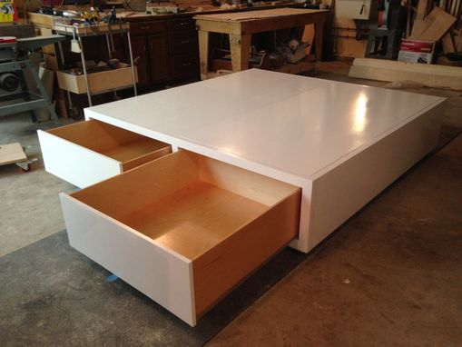 Custom Made Platform Bed With Storage Drawers