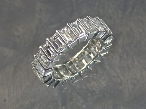 Custom Made Emerald Cut Diamond Eternity Ring