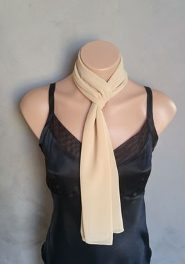 Custom Made Nude Chiffon Scarf