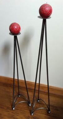 Custom Made Iron Candle Stands
