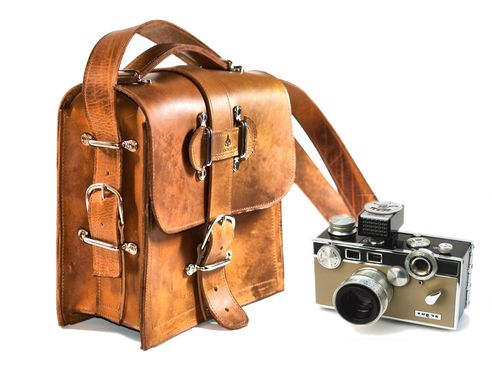 Custom Made Kirkaldy Leather Camera Bag