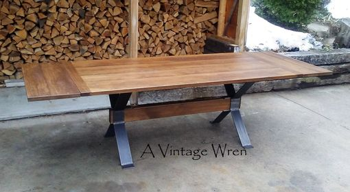 Custom Made Industrial Table/ Modern Industrial Dining Table/ Industrial Farm Table