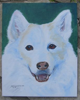 Custom Made Custom Pet Portrait Of Georgy, A Siberian Husky