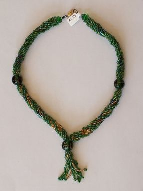Custom Made Twisted  Herringbone  Seed Bead  Necklace