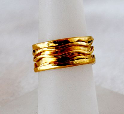 Custom Made 22k Gold Cigar Band Ring