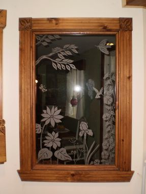 Custom Made Sandblasted Window