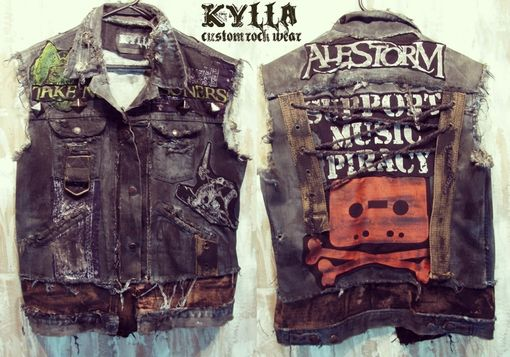 Handmade Custom Vest Rock Metal Punk Stage Rockstar