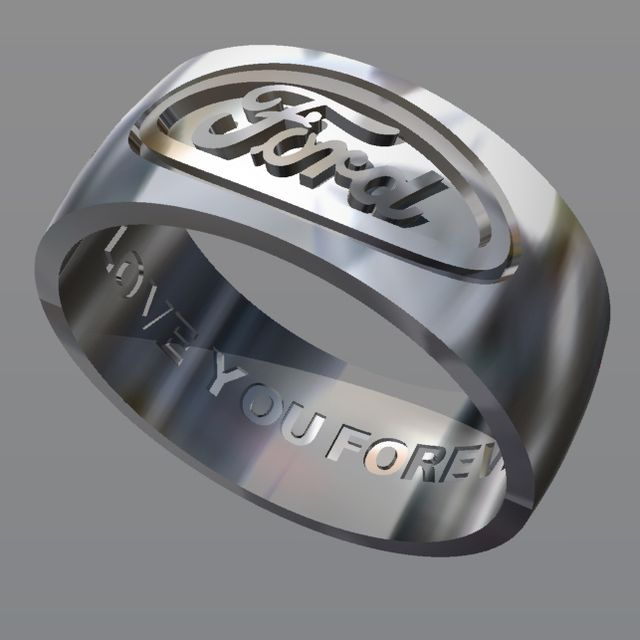 A Hand Crafted Ford Ring Custom Wedding Band Made To Order From Jg Creations Inc Custommade