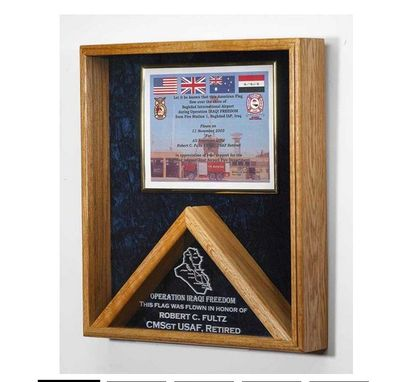 Custom Made Flag Case - Shadow Box