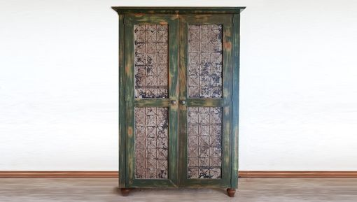 Custom Made Rustic Computer Armoire