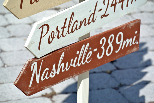 Custom Made Rustic Directional Destination Wood Sign. Gift For Parents, Friends And Family.