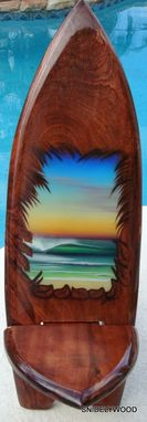 Custom Made Margarita Parrot Table With Two Surf Board Chairs
