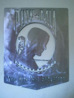 Custom Made Pow Mia Metal Wall Art