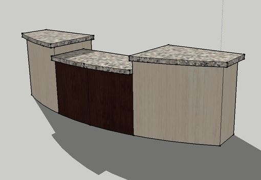 Custom Made 10ft, Two Level Welcome Desk